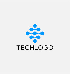Tech logo design vector