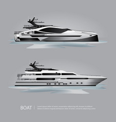 Transportation boat tourist yacht to travel vector