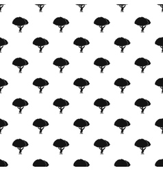 Tree pattern simple style vector image