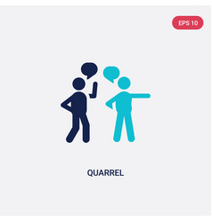 Two color quarrel icon from communication concept vector