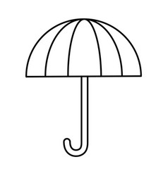 umbrella silhouette isolated icon vector image