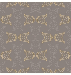 Vintage pattern with organic shapes vector image