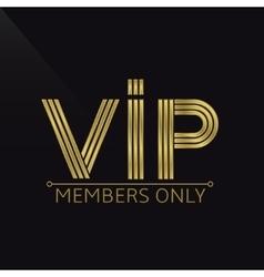 VIP icon vector image