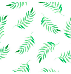 watercolor tropical leaves floral color vector image
