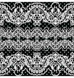 White vintage Lace Crochet pattern vector