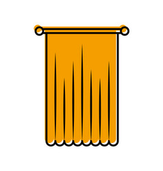 Window curtain isolated icon vector