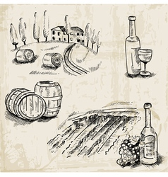 Wine Winemaking and Vineyard vector image