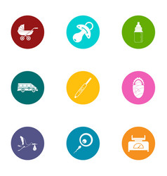 Youngster icons set flat style vector
