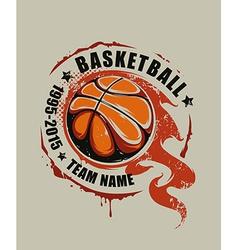 Basketball art vector