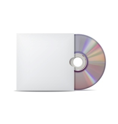 Compact disk with cover vector image