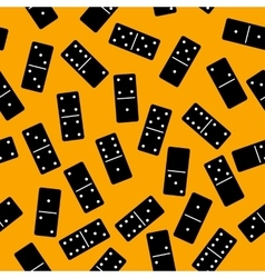 Domino seamless pattern vector image vector image