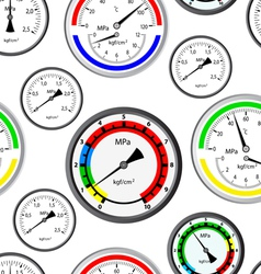gas manometer background vector image