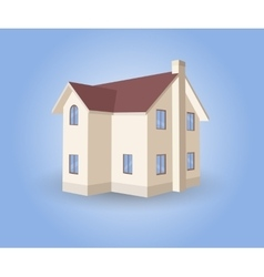 House on blue background vector image vector image