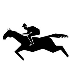 jokey and horse vector image