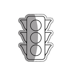 Semaphore traffic light post vector