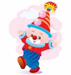 the dancing clown vector image