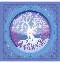 Tree winter vector image
