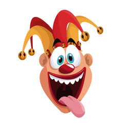 april fools day funny jester vector image