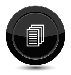 Button with document sign vector image vector image