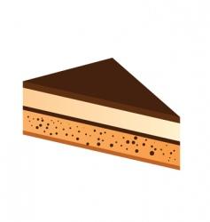 chocolate cake slice vector image vector image