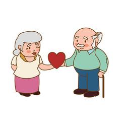 couple elder adults love vector image