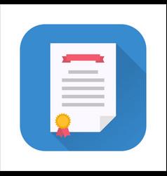 diploma flat icon vector image