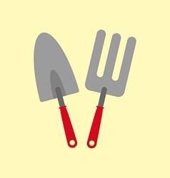 Garden tools icon vector