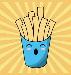 kawaii french fries image vector image vector image