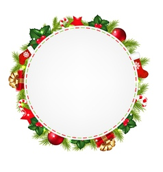 Speech Bubble With Christmas Icons vector image vector image