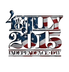 4th of July Cut Out 2015 Independance Day vector image vector image