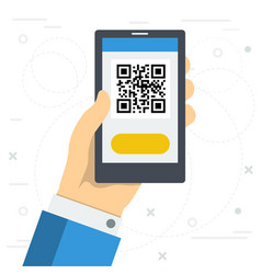 Access to web site by qr code vector