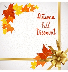 Autumn fall discount on white vector image vector image