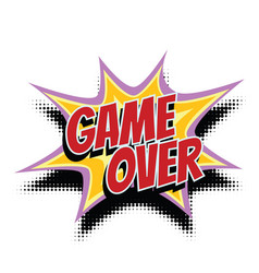 game over comic word vector image vector image