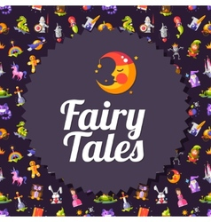 Modern flat design fairy tales and magic flyer vector image vector image