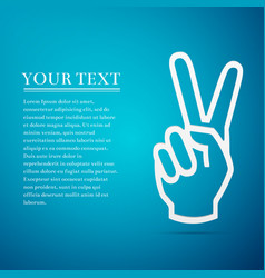 victory hand sign icon hand showing two finger vector image