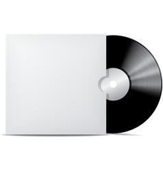 Vinyl record in blank cover envelope vector image