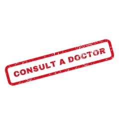 Consult a doctor text rubber stamp vector
