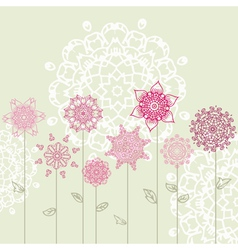 floral design with arabesques vector image vector image