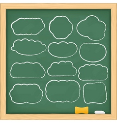 hand drawn clouds vector image