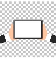 Hands Holing Tablet vector image