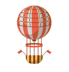hot air balloon isolated on white background vector image