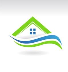 House Swoosh Icon Logo vector image vector image