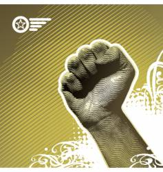 protest hand vector image
