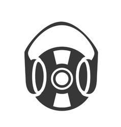 retro vinyl with headset vector image vector image