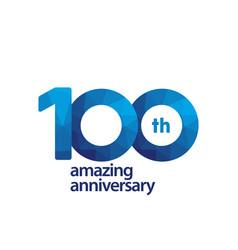 100 years amazing anniversary celebration vector