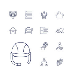 13 site icons vector image