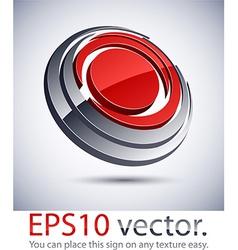 3D modern round logo icon vector