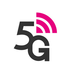 5g logo network wireless systems and internet vector