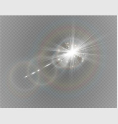Abstract lens gold front solar flare transparent vector