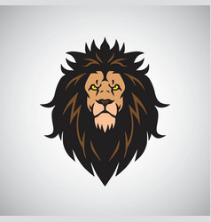 angry lion king head logo design mascot vector image